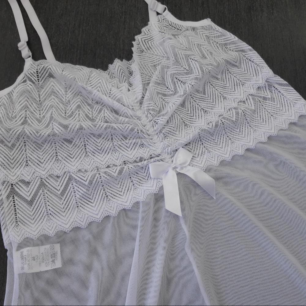 Camisola Tati Plus Size Branco