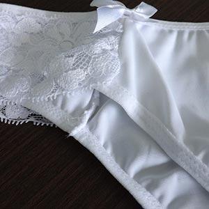 Calça Maryna Renda Lateral e Lacinhos Branco