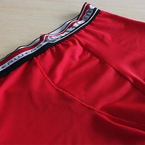 Cueca Boxer Infantil Microfibra Lisa Com Elástico Bordado Vermelho