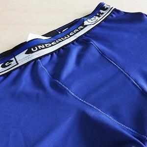 Cueca Boxer Infantil Microfibra Lisa Com Elástico Bordado Azul Bic
