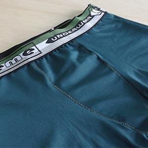 Cueca Boxer Infantil Microfibra Lisa Com Elástico Bordado Verde Escuro