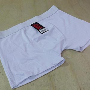 Cueca Boxer Microfibra  Branca