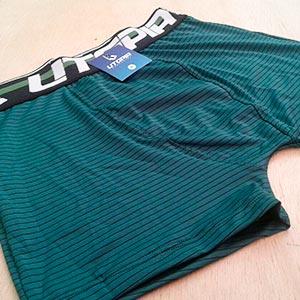 Cueca Boxer Risca de Giz Verde Musgo