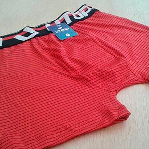 Cueca Boxer Risca de Giz Vermelho