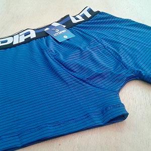 Cueca Boxer Risca de Giz Azul Bic