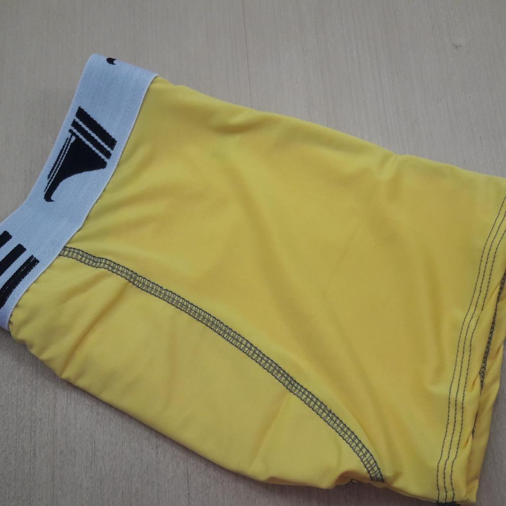 Cueca Boxer Elástico Exposto Amarela