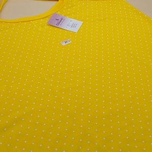 Camisola Bolinha Amarelo Poá Branco