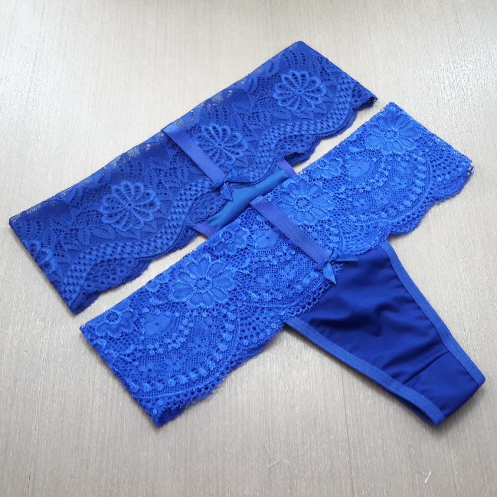 Tanga Fio Fita Azul Bic