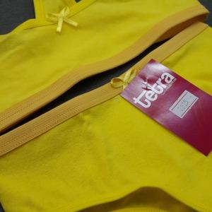Conjunto S/ Bojo em Cotton Amarelo