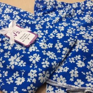 Azul Floral Branco