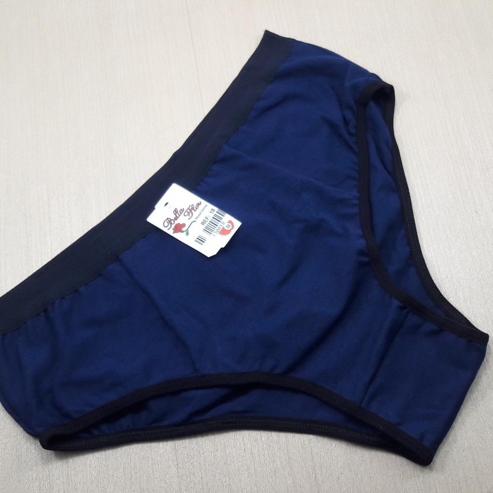 Tangão Plus Size de Cotton Liso Azul Marinho