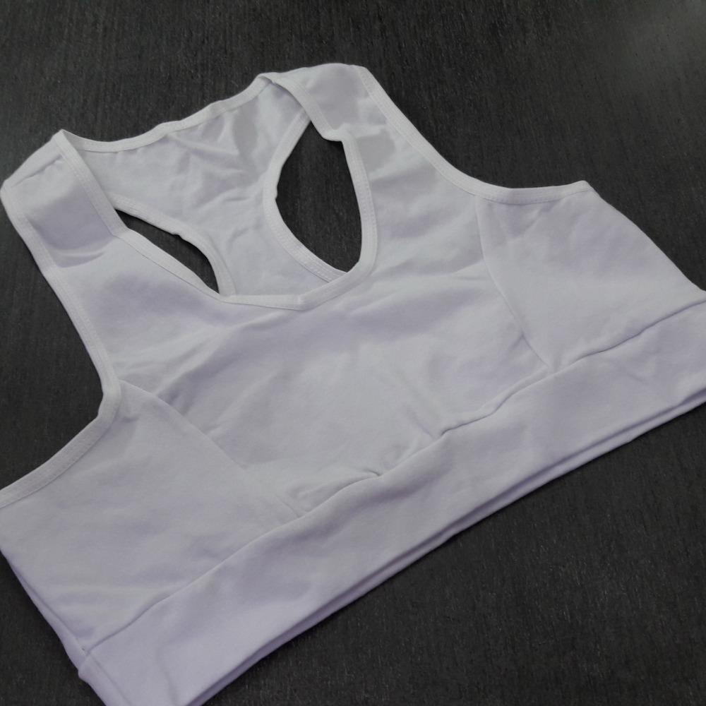Top Nadador em Cotton com El�stico Branco
