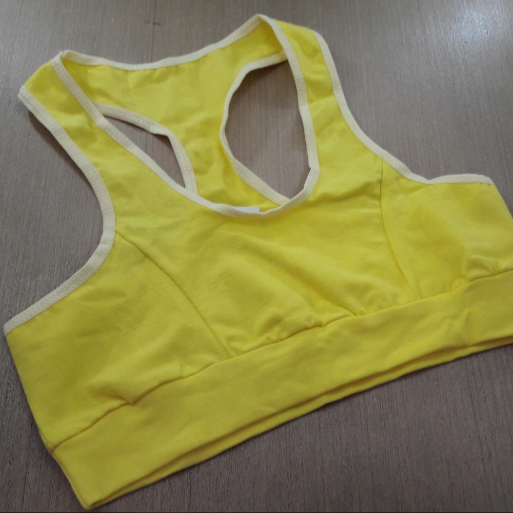 Top Nadador em Cotton com El�stico Amarelo