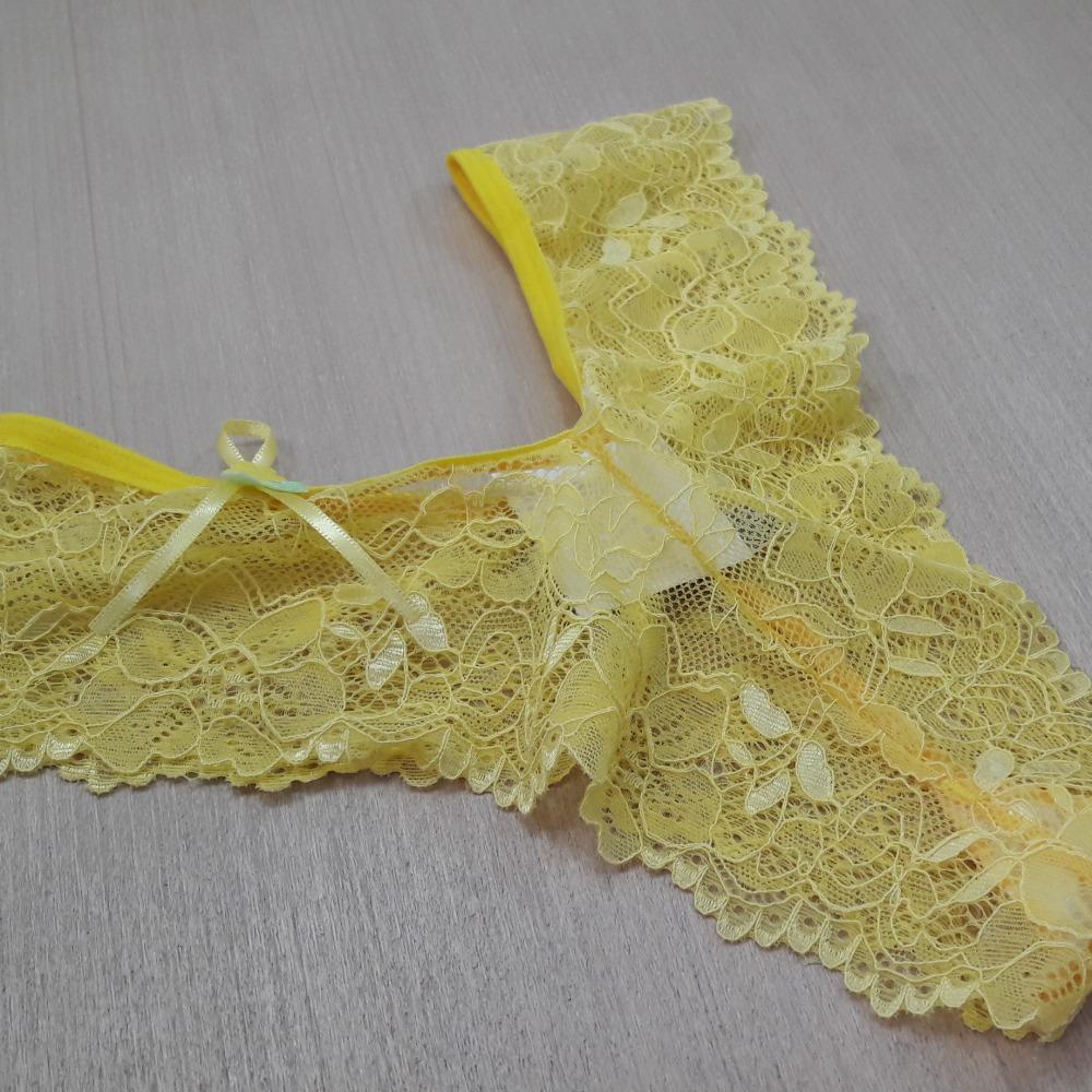 Tanga em Renda Ritinha Amarelo