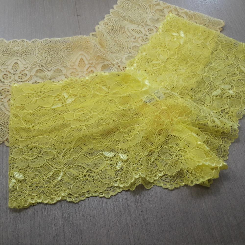 Cale�on Confort�vel em Renda Amarelo