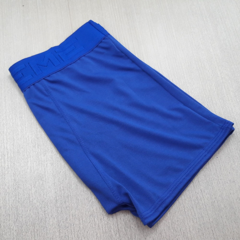 Cueca Boxer Masculina Microfibra Lisa Azul Bic