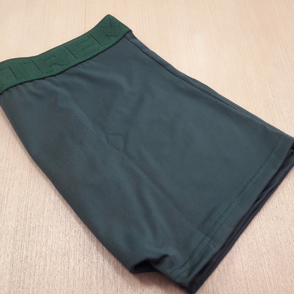 Cueca Boxer Masculina Microfibra Lisa Verde