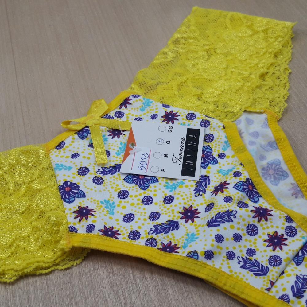 Tanga Estampada Anal� Vi�s Amarelo/Estampas Variadas