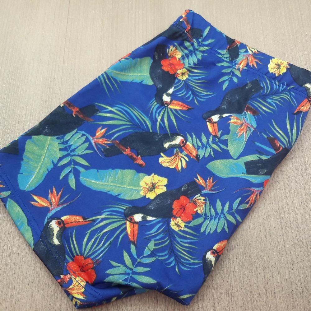 Cueca Boxer  Tucano/ Floral Azul