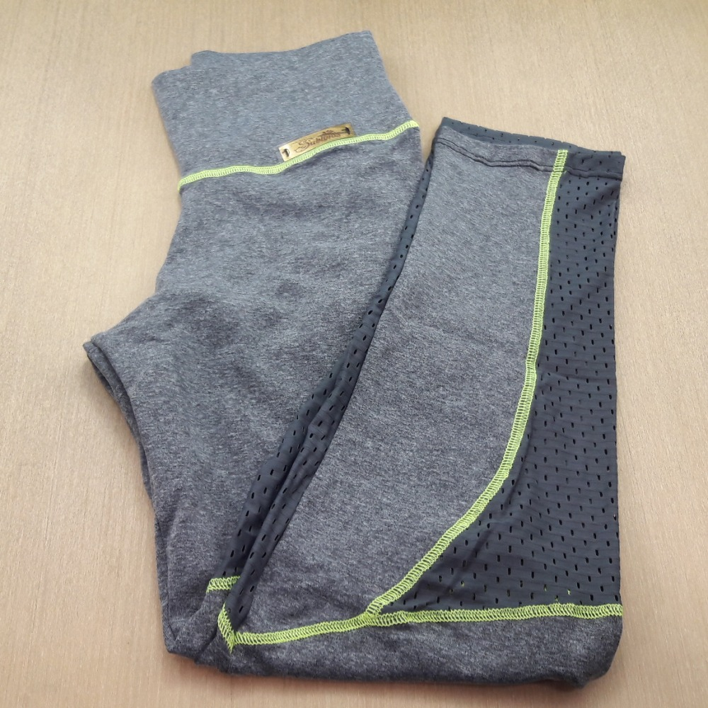 Cal�a Legging Fitness em Suplex de Poliamida Mescla