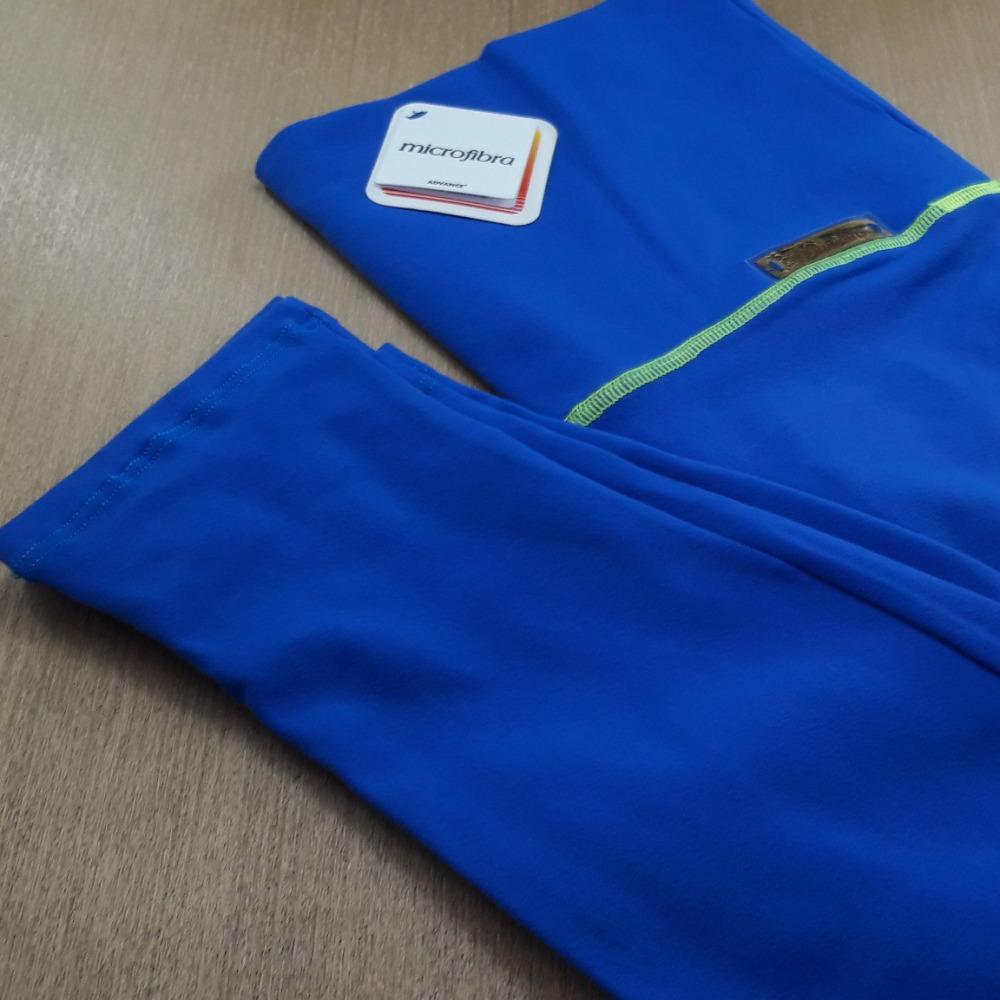 Cal�a Pezinho em Suplex de Poliamida Azul Bic