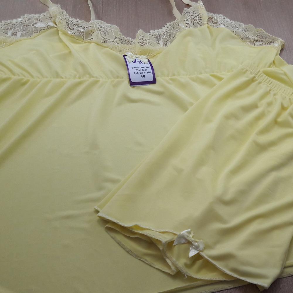 Short Doll Plus Size Vivi Amarelo