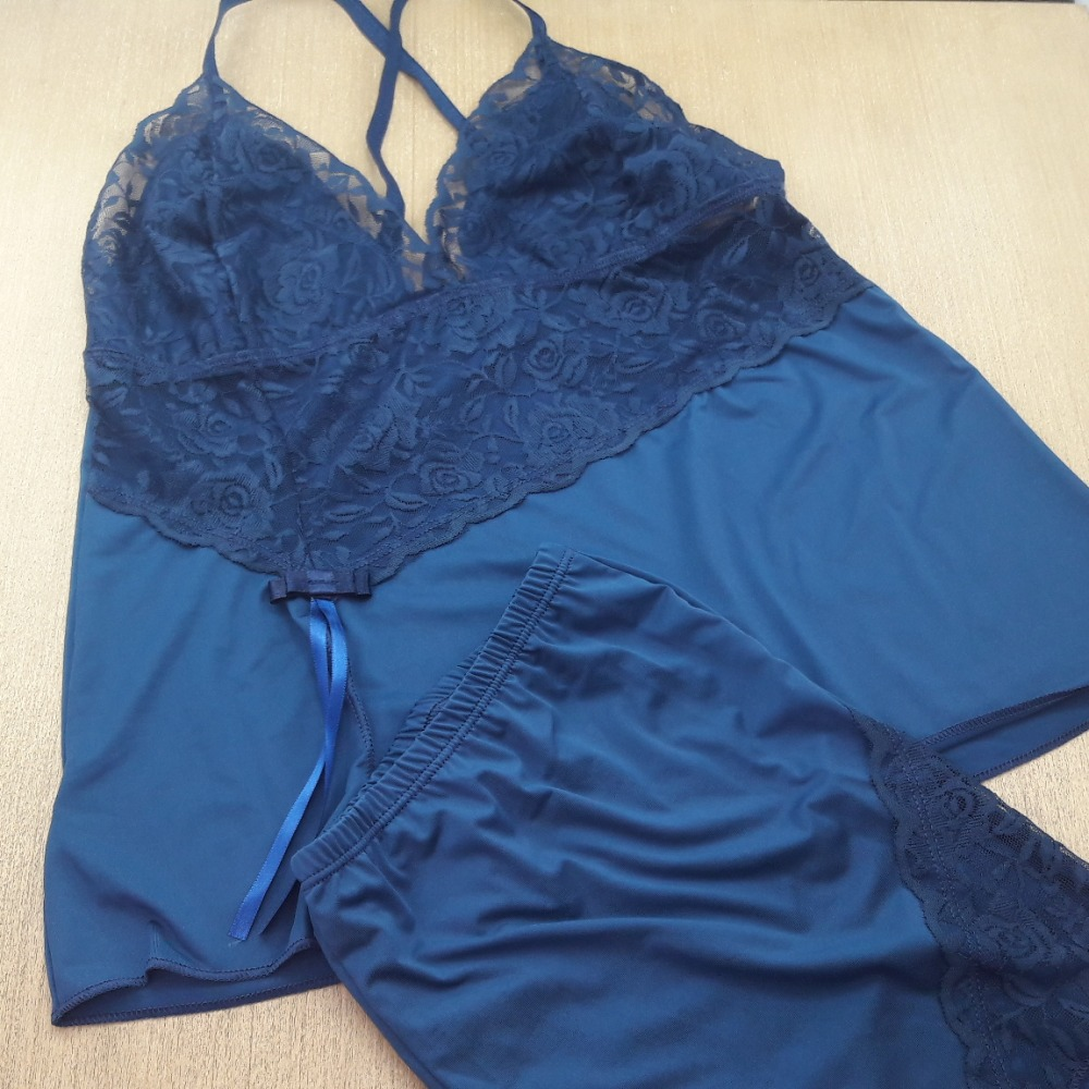 Short Doll Eliane Azul Marinho