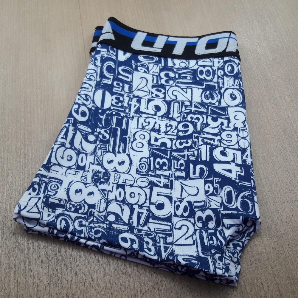 Cueca Boxer Microfibra Estampada UTOPIA Azul Números