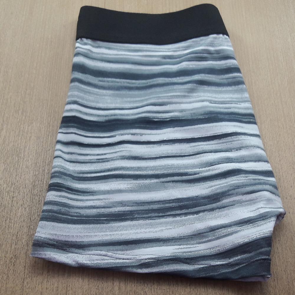 Cueca Boxer microfibra estampada - Elástico Liso Cinza Listras Horizontais