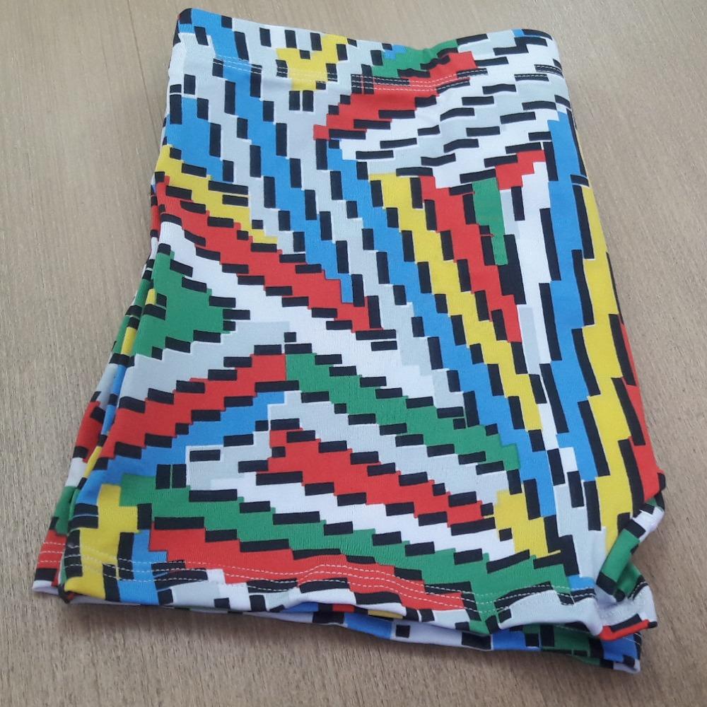 Cueca Boxer Microfibra Estampada Embutida Triângulos Coloridos