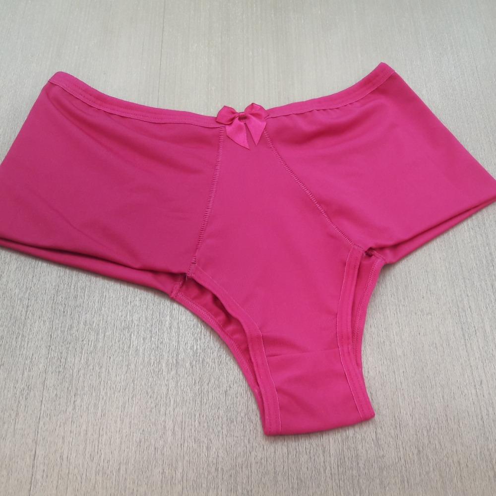 Cal�a Plus Size em Microfibra  Pink