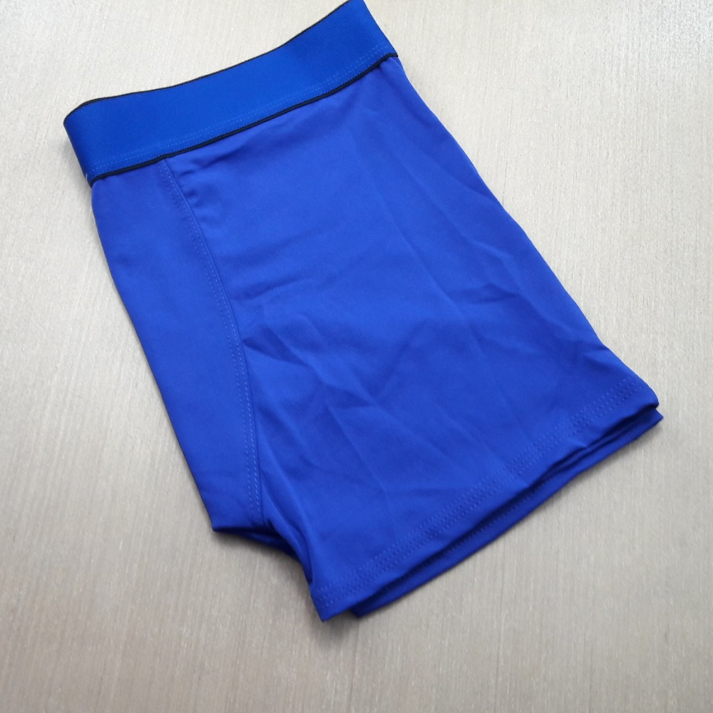 Cueca Boxer Microfibra Lisa Azul Bic