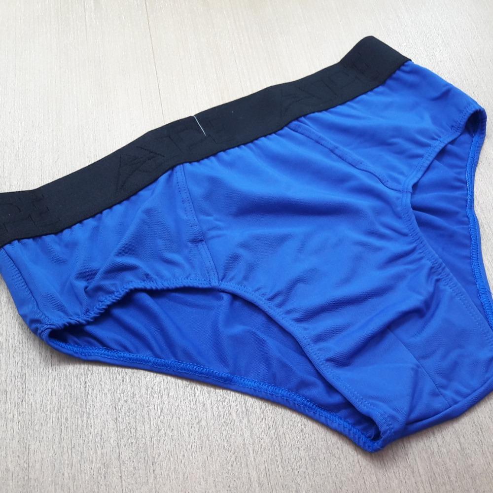 Cueca Slip Microfibra Lisa Azul Bic