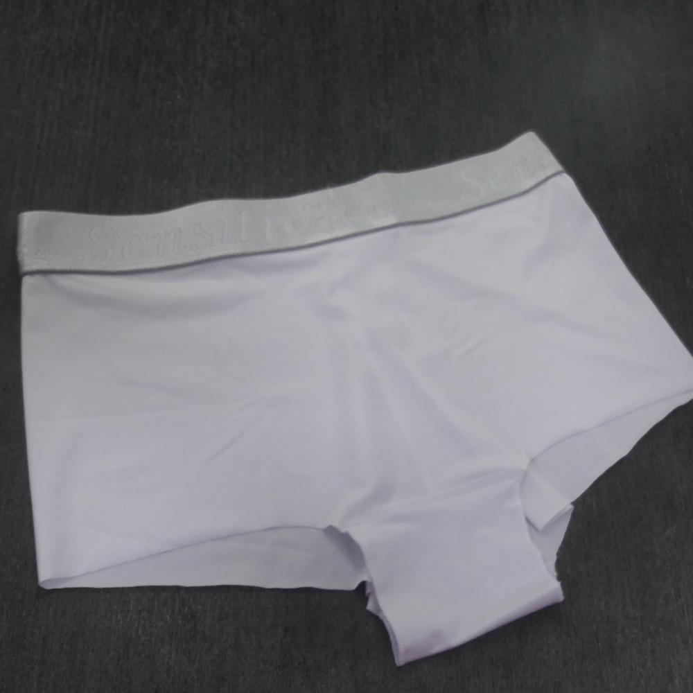 Boxer Laser Stretch Prata Branco