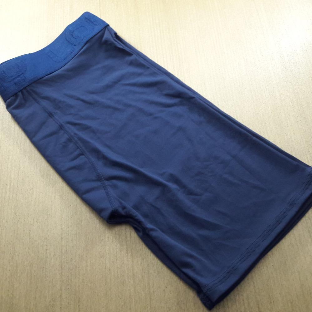 Cueca Boxer Ciclista Microfibra Azul Marinho
