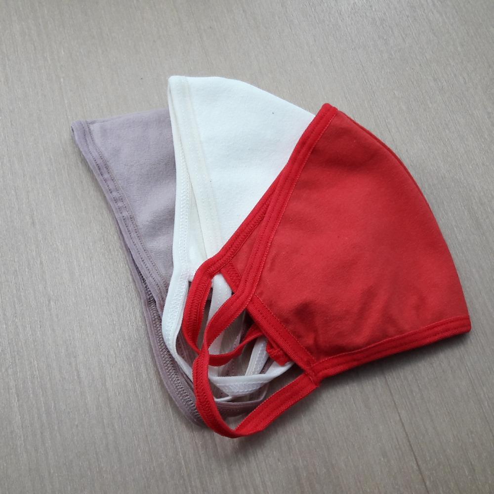 Kit com 3 M�scaras em Cotton Camada Dupla Cores Variadas