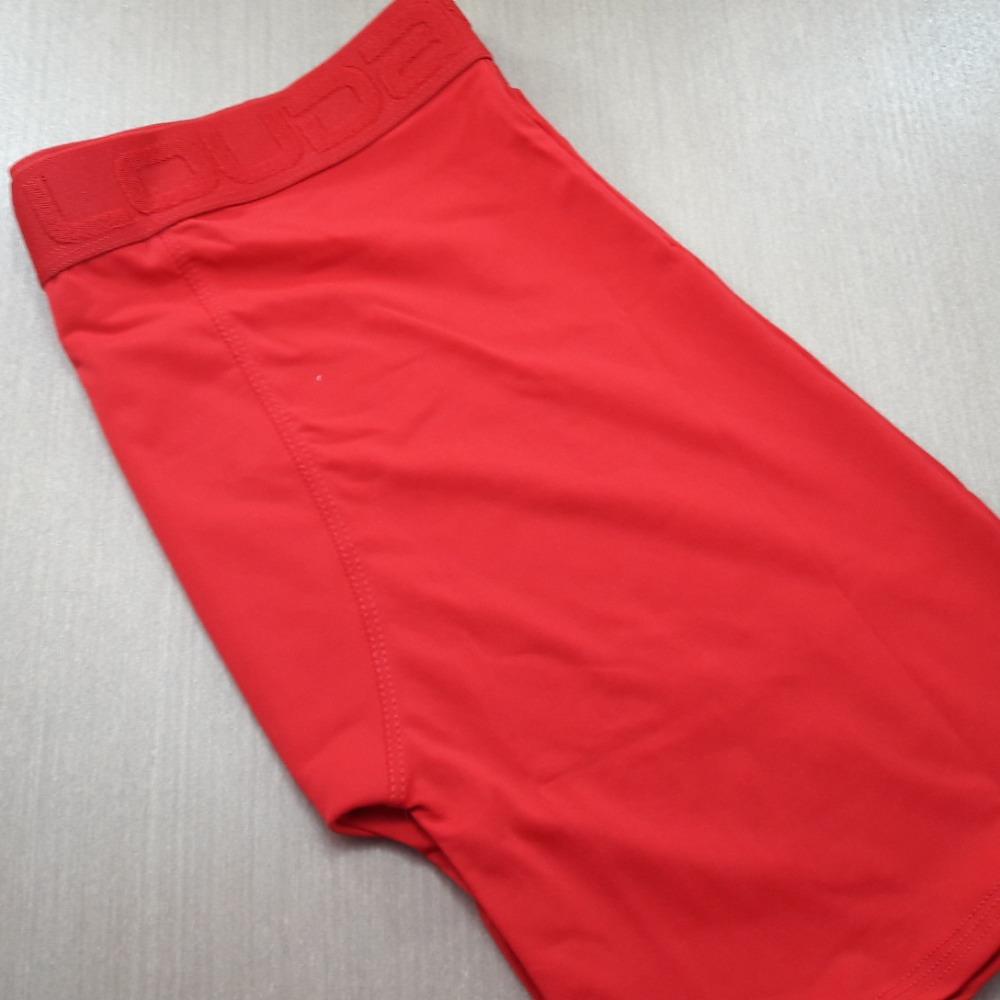 Cueca Boxer Ciclista Microfibra Vermelho