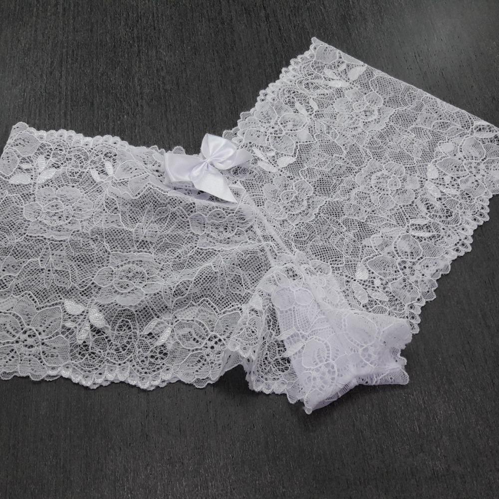 Cale�on em Renda Sedosa Branco