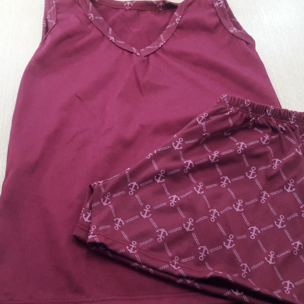 Pijama Infantil Masculino - Camisa lisa Vinho