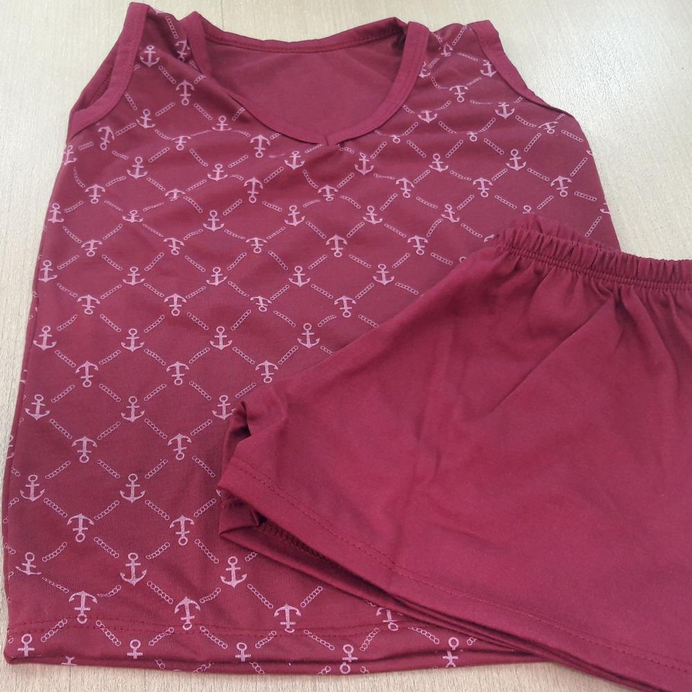 Pijama Infantil Masculino - Camisa Estampada Vinho Estampado