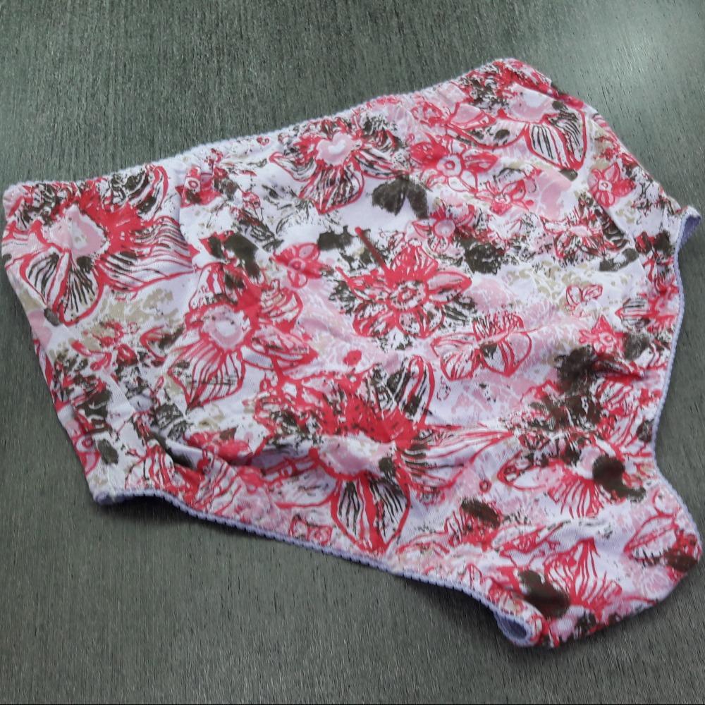 Calçola Malha Lilas / Floral Grande