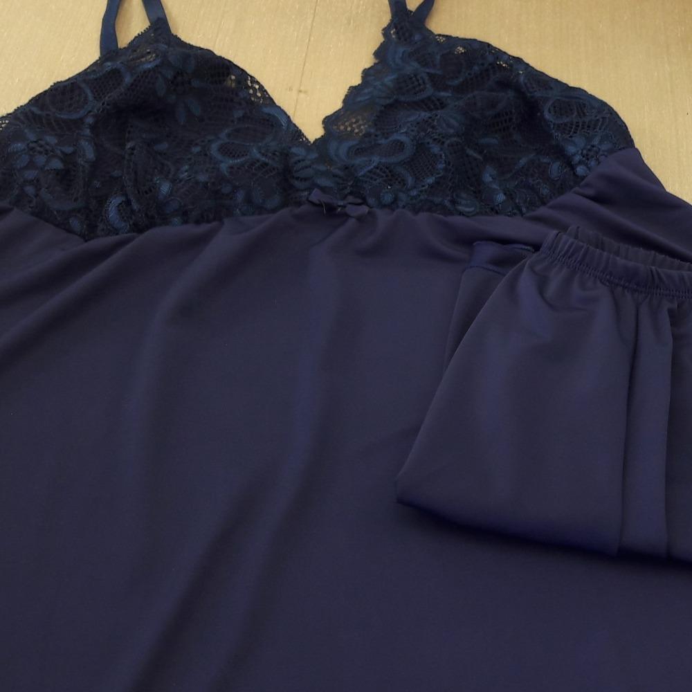 Short Doll Jade Plus Size Azul Marinho