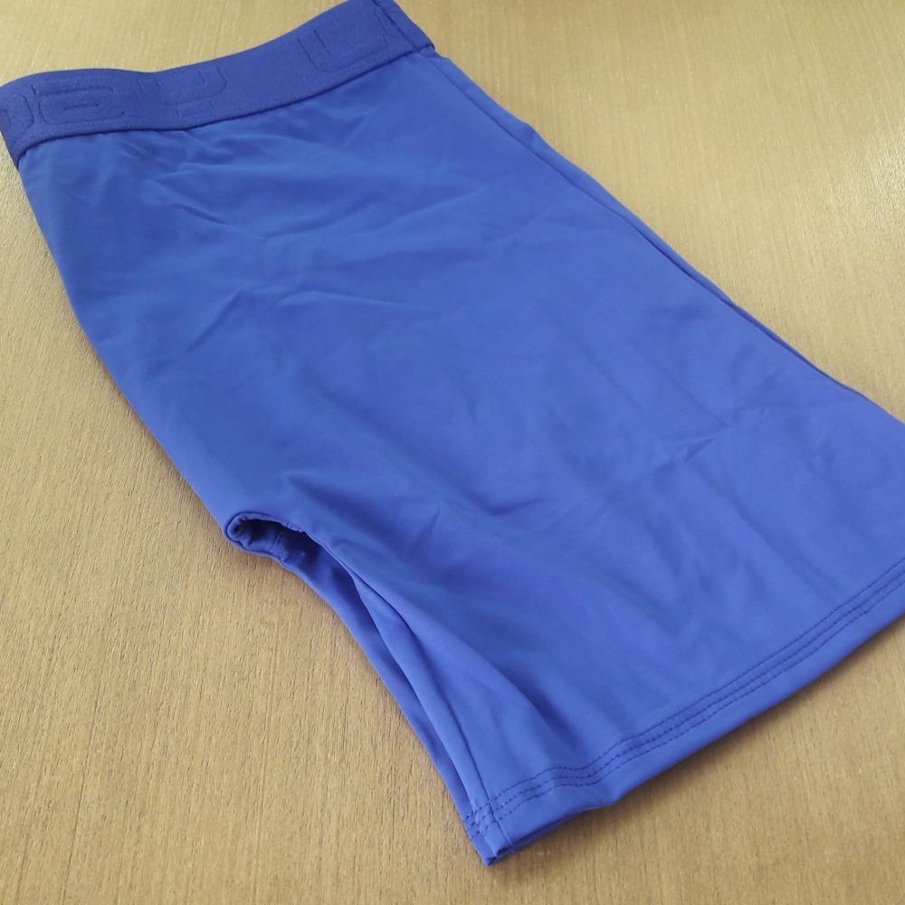 Cueca Boxer Ciclista Microfibra Azul Bic
