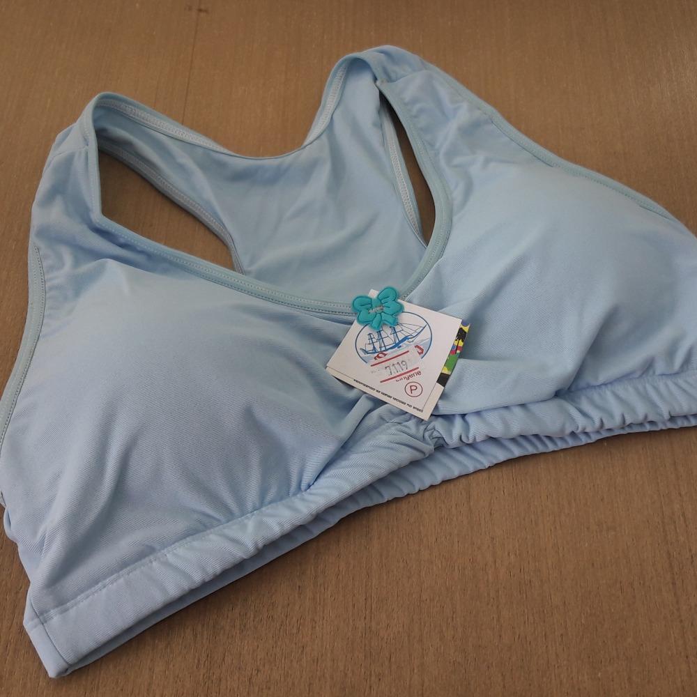 Suti� Top Camiseta Bojo Remov�vel Azul Beb�
