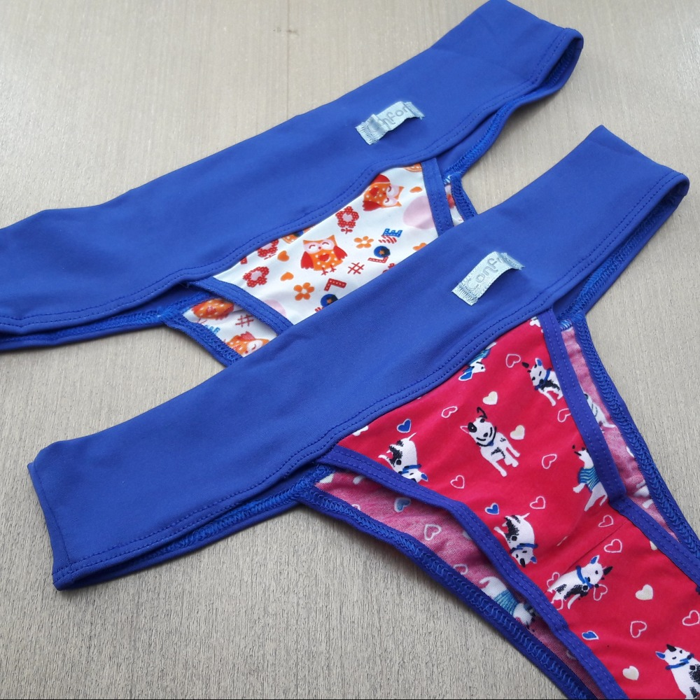 Tanga Conforto C�s Azul Bic/Estampado