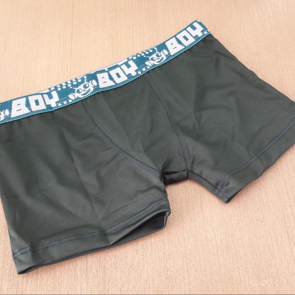 Cueca Boxer Infantil Verde Escuro