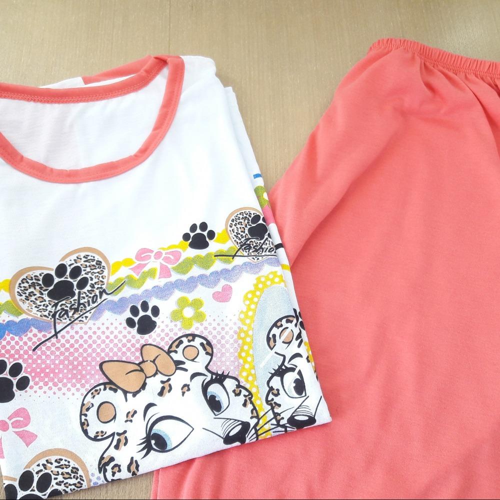 Pijama Pescador Feminino Coral/ Estampas Variadas