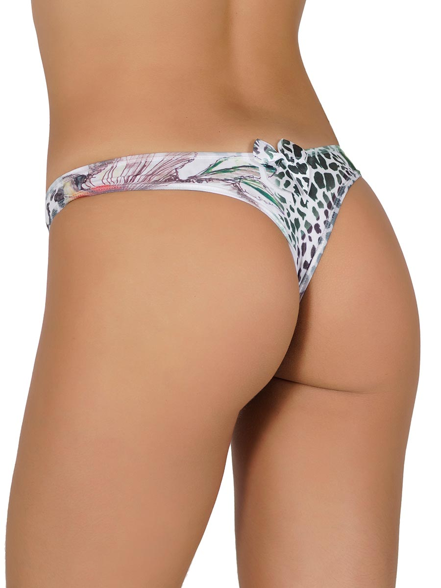 Kit Tanga Fio Sublimada com 5 Pe�as