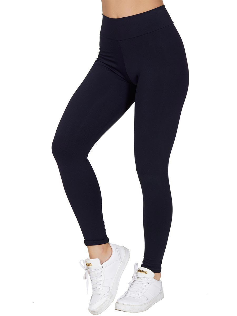 Calça Fitness Lisa em Poliamida