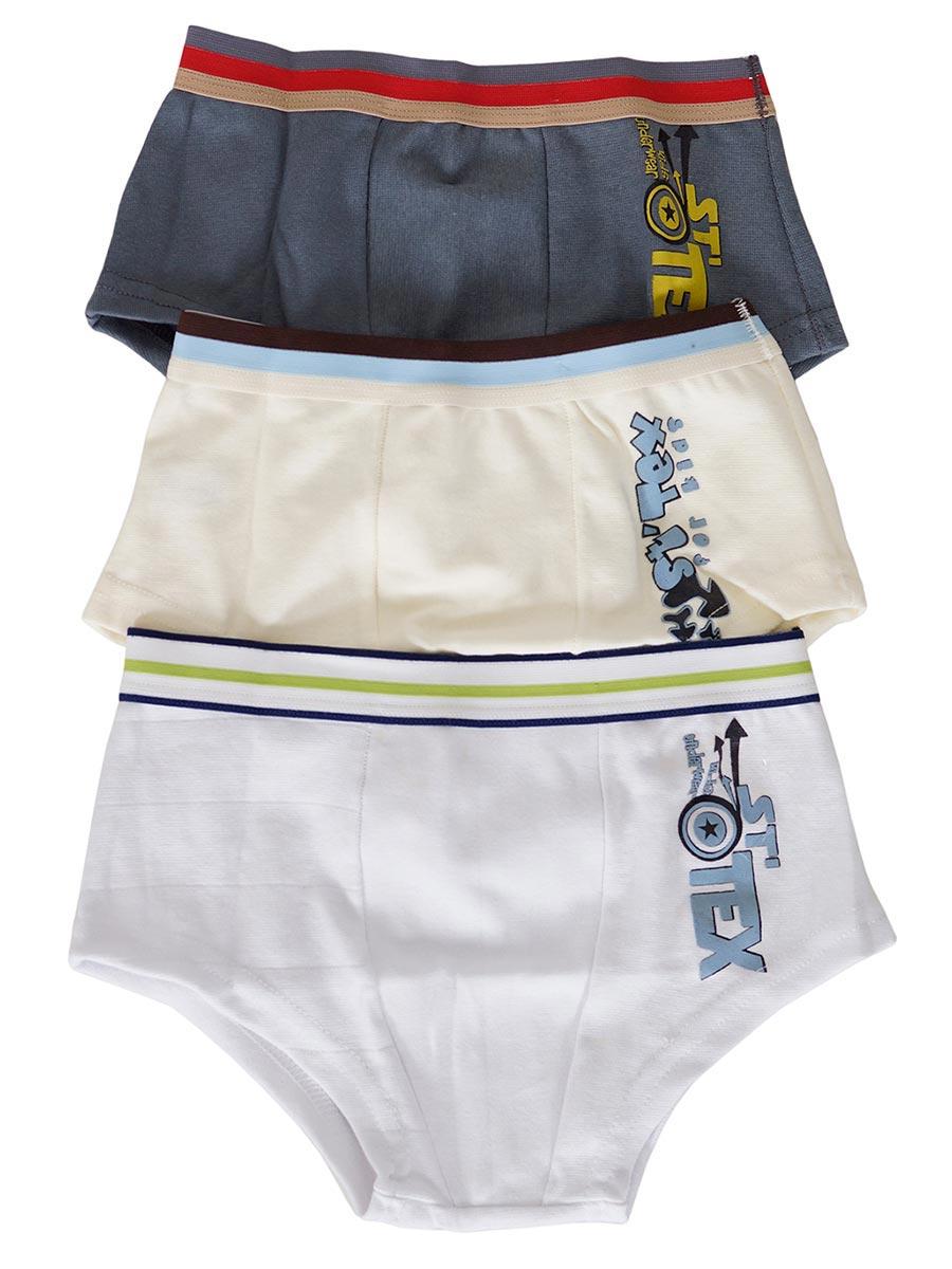 Kit Cueca Infantil Em Cotton Com 3 Peças
